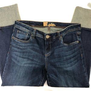 Kut from the Kloth Cameron Straight Cropped Jeans